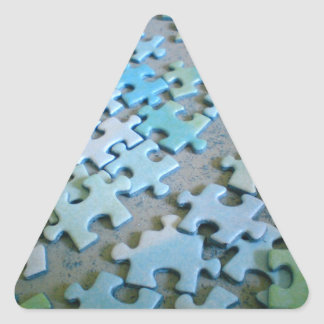 Jigsaw triangle sticker