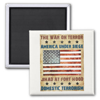 Jihad At Fort Hood 2 Inch Square Magnet