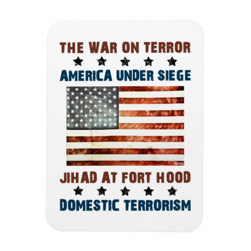 Jihad At Fort Hood Vinyl Magnet