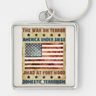 Jihad en Fort Hood Llavero Cuadrado Plateado