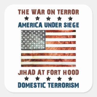 Jihad en Fort Hood Calcomanías Cuadradas Personalizadas