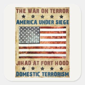 Jihad en Fort Hood Pegatinas Cuadradas