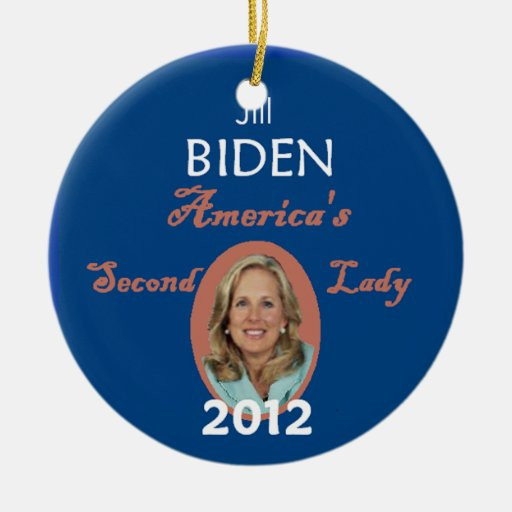 JILL 2012 Double-Sided CERAMIC ROUND CHRISTMAS ORNAMENT