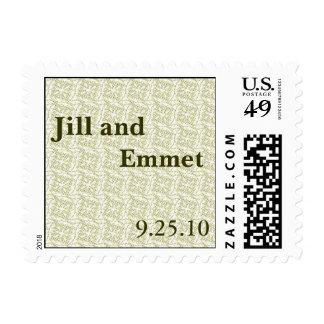 Jill & Emmet Postage Stamp