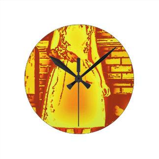 Jill O Lantern Round Clock