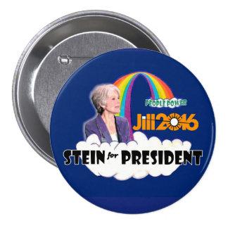 Jill Stein 2016 para el presidente Pin Redondo De 3 Pulgadas
