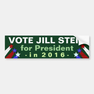 Jill Stein 2016 President Election Green Party Bumper Sticker
