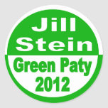 Jill Stein for President 2012 Green Party Classic Round Sticker