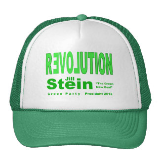 Jill Stein for President 2012 Green Party Mesh Hats