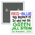 Jill Stein for President 2012 Green Party Pinback Button