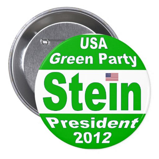 Jill Stein for President 2012 Green Party Pins