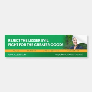 Jill Stein for President/Green Party bumpersticker Bumper Sticker