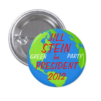 Jill Stein para el botón del presidente Pin Redondo De 1 Pulgada