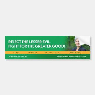 Jill Stein para el bumpersticker del Pegatina Para Auto