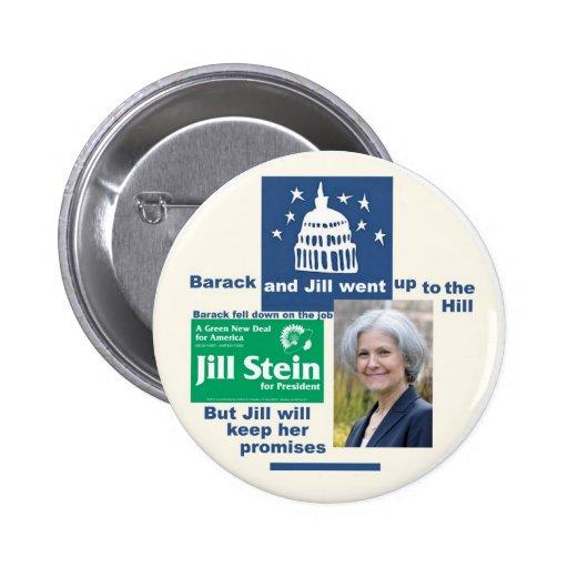 Jill Stein para el presidente 2012 Pins