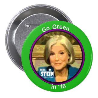 Jill Stein para el presidente 2016 Pin Redondo De 3 Pulgadas