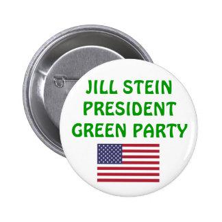 Jill Stein para el presidente Partido Verde 2012 l Pin Redondo De 2 Pulgadas