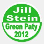 Jill Stein para el presidente Partido Verde 2012 Pegatina Redonda