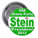 Jill Stein para el presidente Partido Verde 2012 Pin Redondo De 3 Pulgadas