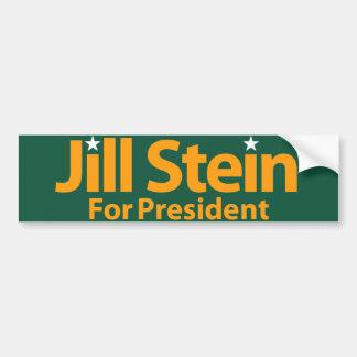 Jill Stein para el presidente Pegatina Para Auto