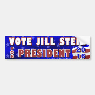 Jill Stein President 2016 Election Green Party Bumper Sticker