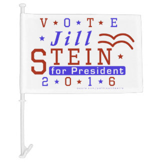 Jill Stein President 2016 Election Green Party Car Flag