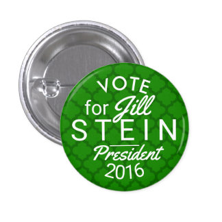 Jill Stein President 2016 Election Green Political Pinback Button