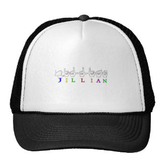 JILLIAN NAME SIGN ASL FINGERSPELLED TRUCKER HAT