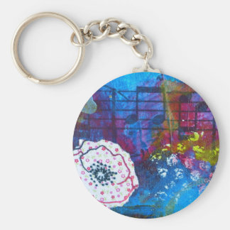 Jill's Flowers Series Detail Keychain