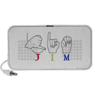 JIM ASL FINGERSPELLED NAME SIGN MALE iPhone SPEAKER