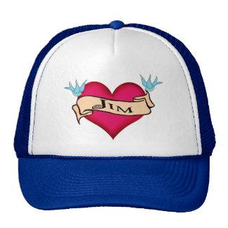 Jim - camisetas y regalos de encargo del tatuaje d gorras de camionero