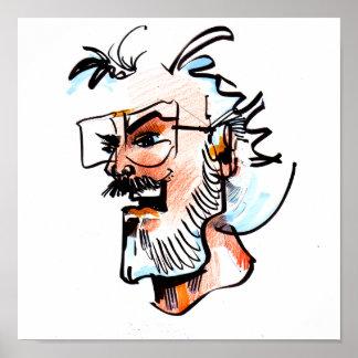 Jim Channon self portrait Poster