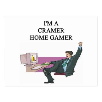 jim cramer home gamer postcard