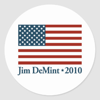 Jim DeMint 2010 Classic Round Sticker