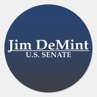 Jim DeMint U.S. Senate Classic Round Sticker