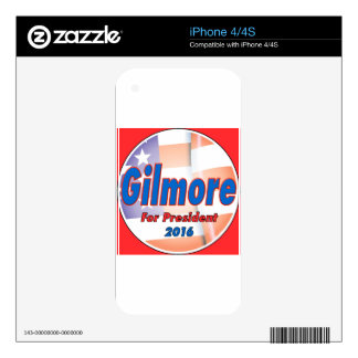 Jim Gilmore for President in 2016 Skins For iPhone 4S