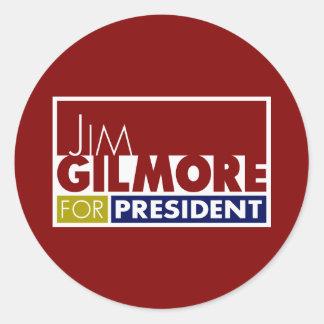 Jim Gilmore for President V1 Classic Round Sticker