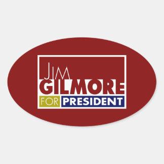 Jim Gilmore for President V1 Oval Sticker