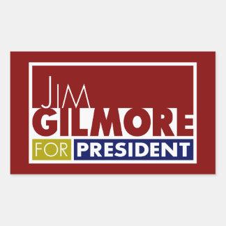 Jim Gilmore for President V1 Rectangular Sticker