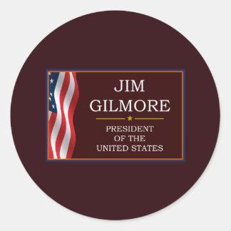 Jim Gilmore for President V3 Classic Round Sticker