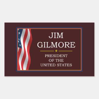 Jim Gilmore for President V3 Rectangular Sticker