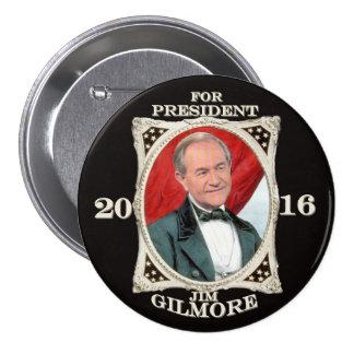 Jim Gilmore para el presidente 2016 Pin Redondo De 3 Pulgadas