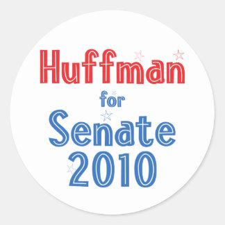 Jim Huffman for Senate 2010 Star Design Round Sticker