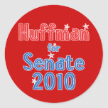 Jim Huffman for Senate 2010 Star Design Classic Round Sticker
