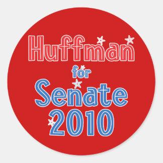 Jim Huffman for Senate 2010 Star Design Round Stickers