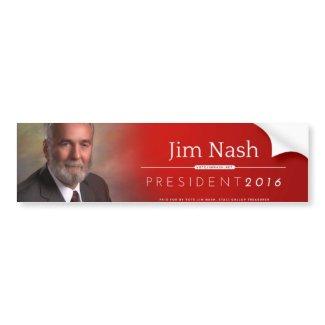 Jim Nash 2016 Photo Bumper Sticker