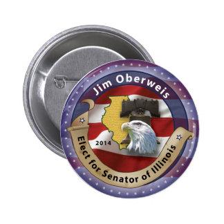 Jim Oberweis Pinback Button
