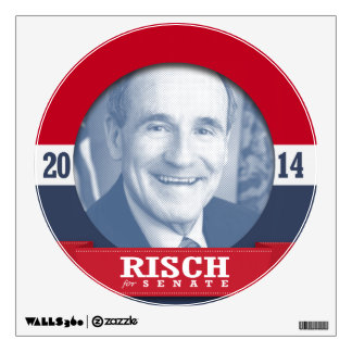 JIM RISCH CAMPAIGN WALL STICKERS