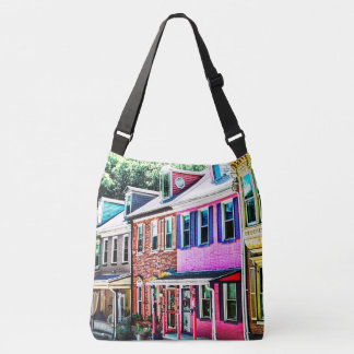 Jim Thorpe Pa - Colorful Street Crossbody Bag