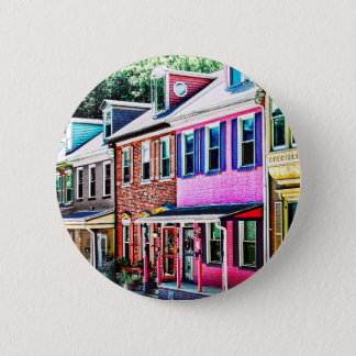 Jim Thorpe Pa - Colorful Street Pinback Button